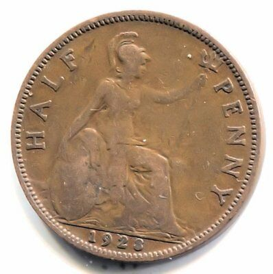 Great Britain 1928 Half Penny Coin - United Kingdom England King George V