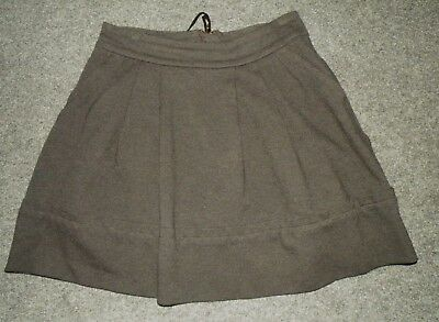 Marc by Marc Jacobs Charcoal Gray Willis Skirt~Mini~Pleated~Pockets sz 4