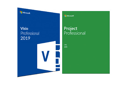 Microsoft Project 2019 and Microsoft Visio 2019 Professional FOR 1 PC GENUINE