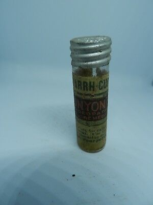 Early 1900's Catarrh-Cure - Munyon's Homeopathic Home Remedies clear bottle