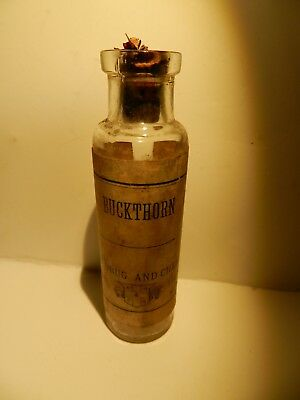 Early 1900's National Drug & Chemical Co. Buckthorn Bark Syrup Clear Bottle