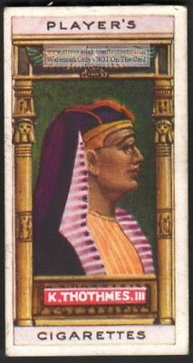 Ancient Egyptian Pharaoh King Thutmose III 100+ Y/O Trade Ad Card