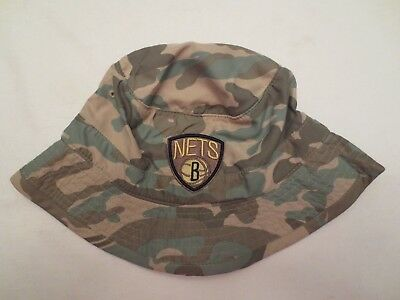 MITCHELL /& NESS NBA SURF CAMO BUCKET HAT BROOKLYN NETS S//M SMALL MEDIUM