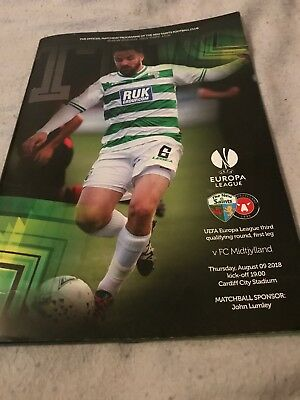 TNS V Midtjylland 9th August 2018 Europa League