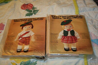 Sealed Vintage 1980 Packages Campbell Kid Doll Kits By & Girl