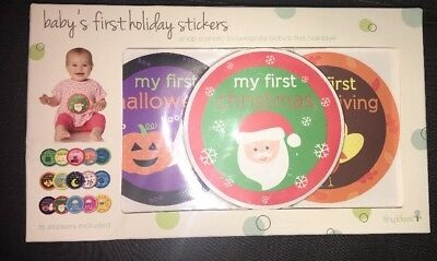 Baby's First Year Holidays Belly Stickers 15 Stickers NIB Xmas Birthday Easter +