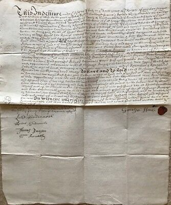 1698 Alnwick Northumberland lease document George Hamilton to John Hindmarsh