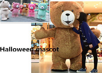 fb2f36a2e9b Christmas Cosplay Inflatable Teddy Bear Plush Mascot Costume Party Game  Dress US