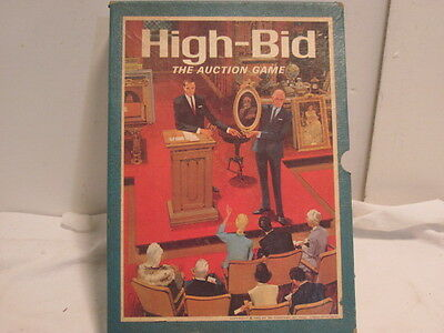 Complete Vintage 3M Bookshelf Game HIGH-BID, The Auction Game, ©1965 Board