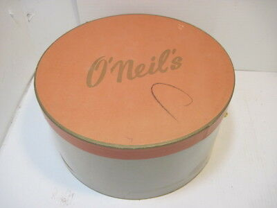 Old Vintage O'neil's Hat Box Department Store Advertising