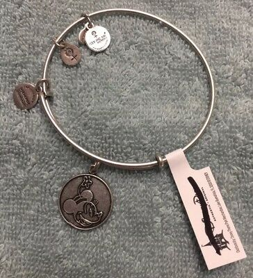 Walt Disney Alex & Ani Minnie Mouse Bangle Bracelet Silver Finish New NWT Attach