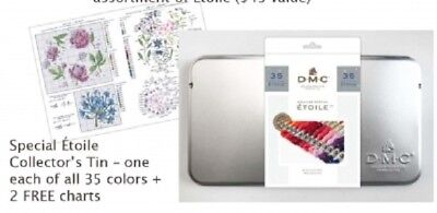 DMC Mouline Etoile Floss Collectable Tin - 35 New Colors + 2 Free Patterns