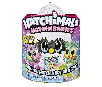 NEW Hatchimals Hatchibabies Chipadee - Foxfin. Hatch a Boy or a Girl. Exclusive