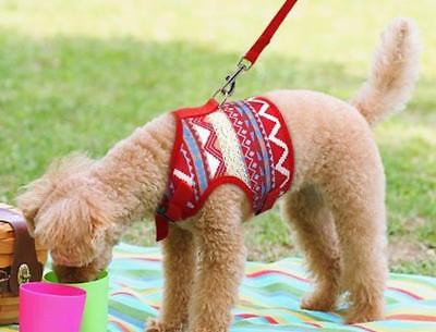 Brightly Printed  Soft Dog Harness & Leash Set for Small, Medium Dogs