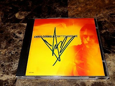 Chris Cornell Rare Hand Signed Promo CD Can't Change Me - Soundgarden Audioslave
