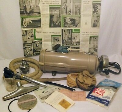 Vintage Electrolux Canister Vacuum Cleaner & Air Purifier with Original Trunk