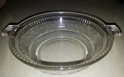 Vintage PYREX CORNING Glass Embossed Floral Scroll Russakov Casserole Dish Bowl