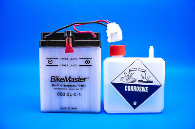 BikeMaster BB2.5L-C-1 Yumicron Battery with ACID  EDTM22LC1