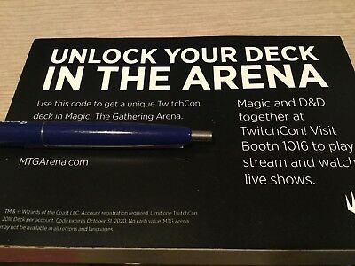 Twitch TwitchCon Exclusive 2018 MTG Arena Magic The Gathering SINGLE CODE ONLY