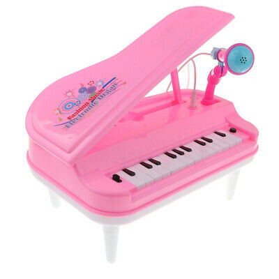 Kids Electronic Organ Keyboard Piano 23 Keys Toy Microphone Musical Plastic
