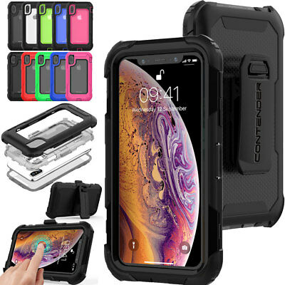 iPhone XS Max Tough Survival Rugged HEAVY DUTY Shock Case with Belt Clip & Stand