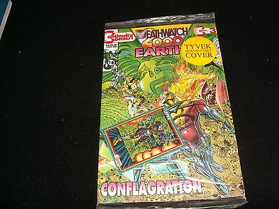 Deathwatch 2000°Earth 4 No.3<>Sealed<>Continuity Comics ~ With Trading Card
