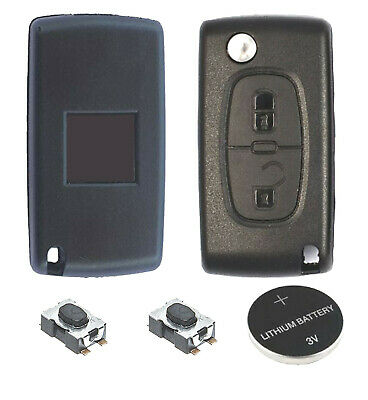 02A Fits Peugeot 308 3008 5008 2 Button KEY FOB REMOTE CASE Repair Fix Kit HU83