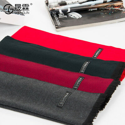Fashion Man Cashmere Silk Winter Warm Scarves Shawl Cashmere Soft Scarf Mens New