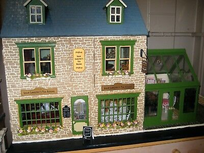 """1:12 Dolls House """"Lillie Langtry's Tea Rooms"""" Shop & Stained Glass Conservatory"""