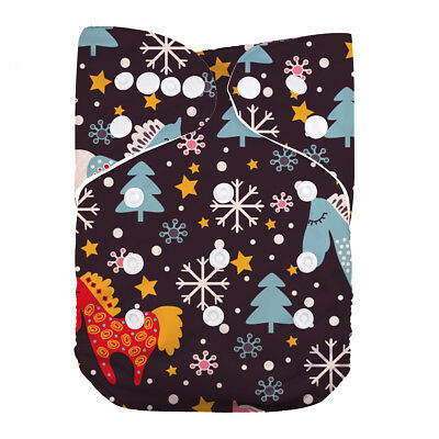 LilBit Pocket Christmas Tree Baby Cloth Diaper