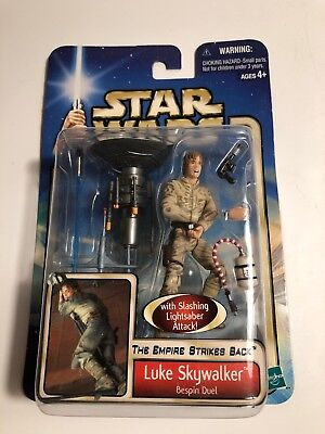 Star Wars Empire Strikes Back 2002 #29 Luke Skywalker Bespin Duel Figure NIB