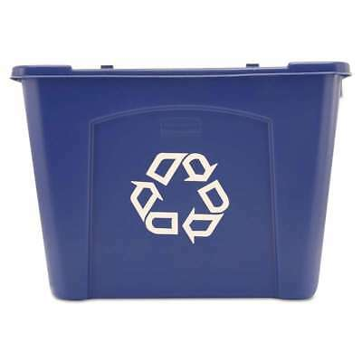 Rubbermaid® Commercial Stacking Recycle Bin, Rectangular, Polyeth 086876201161