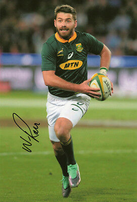 Willie le Roux, South Africa rugby union, Wasps, signed 12x8 inch photo. COA.