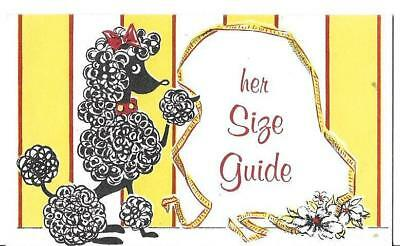 VINTAGE * STIEFEL'S DEPT STORE KANSAS SIZE GUIDEr WOMEN * FRENCH POODLE GRAPHICS