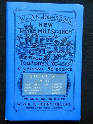 W & AK Johnston's Map of Scotland - c1895 - Port Appin - Ardrossan - Ben Lomond