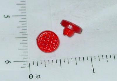 Pair Tonka Plastic Red Crosshatch Tail Lights Toy Part TKP-055