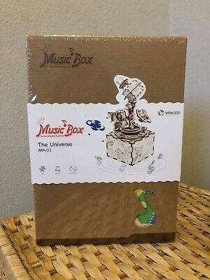 """Music Box 3D Wooden Puzzle in Color """"The Universe"""" - New"""