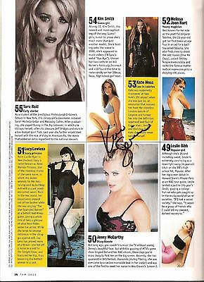 Kim Smith Autographed 2000 FHM 100 Sexiest Women in the World Magazine Gisele