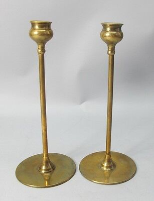 Original Pair of American Arts & Crafts  ROBERT RIDDLE JARVIE Alpha Candlesticks