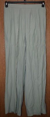 Womens Comfy Green Stephanie Queller Pleated Dress Pants Size 18 excellent ac