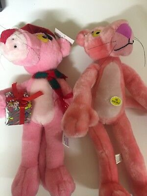 Two Pink Panther Plush 14 Inch