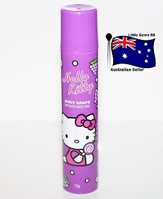 Hello Kitty * Juicy Grape * Scented Perfume BODY MIST SPRAY 75g FULL SIZE