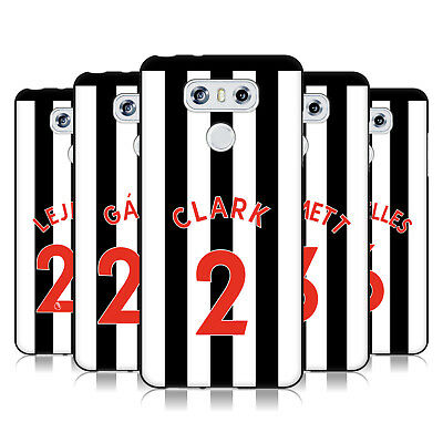 Newcastle United Fc Nufc 2017/18 Players Home Kit 1 Black Gel Case For Lg Phones