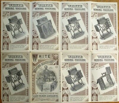 White Sewing Machine 1879 SUPER, Large Brochure/Advertising/Trade Card