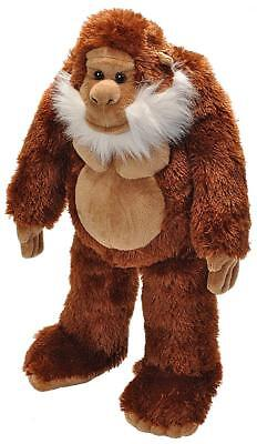 "Wild Republic 12"" Yeti Plush Brown Bigfoot stuffed animal Big Foot fictitious"