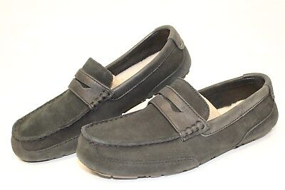 3b9c1b2022a UGG Australia Mens 10 43 Tucker Leather Penny Loafers Shearling Shoes  1008831 kf