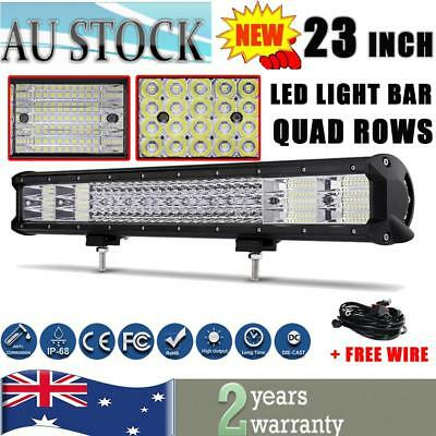 """23Inch QUAD ROWS 2256W PHILIPS LED Work Light Bar Offroad 4X4WD SUV 20""""/22""""/28"""""""