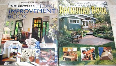 COMPLETE BACKYARD  BOOKS IN ONE VOLUME + COMPLETE HOME IMPROVEMENT - bh & g