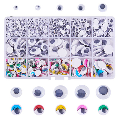 PandaHall Elite Assorted Sizes Mixed Colors Self Adhesive Wiggle Googly Eyes...