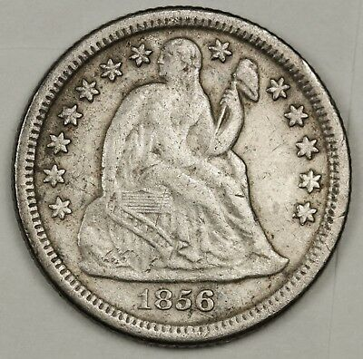 1856-o Liberty Seated Dime.   V.F.  131770